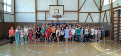 Slovenskí volejbalisti zavítali medzi žiakov